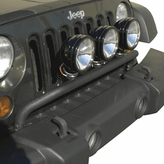 ( 1123220 ) Bumper Mounted Light Bar, Textured Black, 07-18 Jeep Wrangler by Rugged Ridge