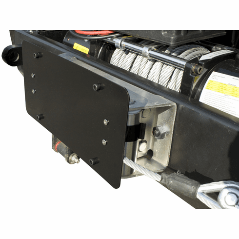 ( 1123805 ) License Plate Mounting Bracket for Roller Fairleads by Rugged Ridge