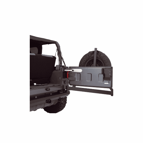 ( 1123811 ) Billet Aluminum Tailgate Stop, 87-17 Jeep Wrangler by Rugged Ridge