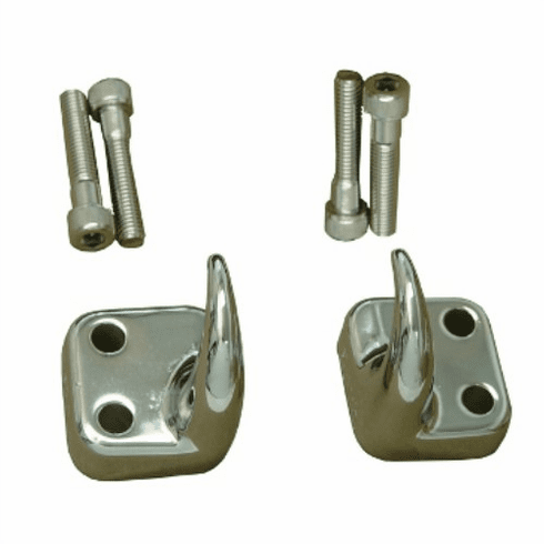 ( 1130301 ) Front Tow Hooks, Chrome, 97-06 Jeep Wrangler by Rugged Ridge
