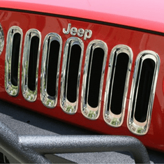 ( 1130620 ) Grille Inserts, Chrome, 07-18 Jeep Wrangler by Rugged Ridge