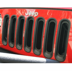 ( 1130630 ) Grille Inserts, Black, 07-18 Jeep Wrangler by Rugged Ridge