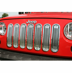 ( 1140120 ) Billet Grille Insert, Polished Aluminum, 07-18 Jeep Wrangler by Rugged Ridge