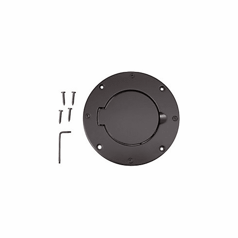 ( 1142502 ) Non-Locking Gas Cap Door, Black, 97-06 Jeep Wrangler by Rugged Ridge