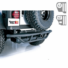 ( 1150311 ) RRC Rear Bumper, 2-Inch Receiver Hitch, 87-06 Jeep Wrangler by Rugged Ridge