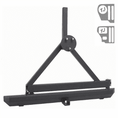( 1150321 ) Rock Crawler Rear Bumper, Hitch and Tire Carrier, 87-06 Jeep Wrangler by Rugged Ridge