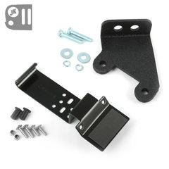 CB Radio and Antenna Mounting Kit fits 2007-17 Jeep Wrangler. Includes CB Radio Bracket and CB Antenna Mounting Bracket