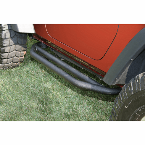 ( 1150421 ) RRC Side Armor Guards, 07-18 Jeep Wrangler by Rugged Ridge