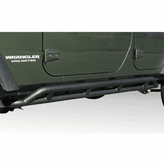 ( 1150422 ) RRC Rocker Guards, Black, 07-18 Jeep Wrangler Unlimited by Rugged Ridge