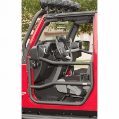 ( 1150910 ) Front Tube Doors, Textured Black, 07-18 Jeep Wrangler by Rugged Ridge
