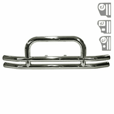 ( 1152001 ) 3-Inch Stainless Steel Front Tube Bumper, 55-06 Jeep Models by Rugged Ridge