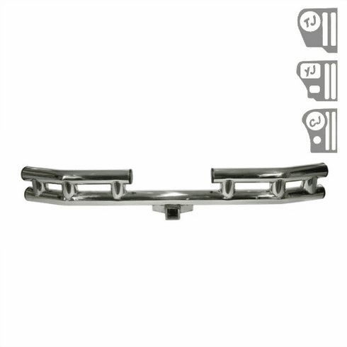 ( 1152201 ) 3-Inch Rear Tube Bumper Stainless Steel, 55-06 Jeep CJ and Wrangler by Rugged Ridge