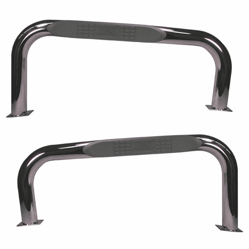 ( 1152204 ) Nerf Bars, Stainless Steel, 87-06 Jeep Wrangler by Rugged Ridge
