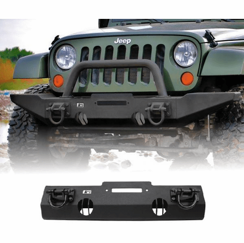 ( 1154010 ) XHD Winch Mount Front Bumper, 07-18 Jeep Wrangler by Rugged Ridge
