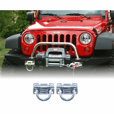 ( 1154017 ) Polished Stainless Steel D-Rings, XHD Modular Front, Rear Bumper by Rugged Ridge