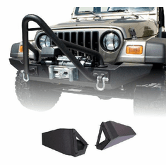 ( 1154042 ) Standard Bumper Ends, XHD Front Bumper, 76-06 Jeep CJ and Wrangler by Rugged Ridge