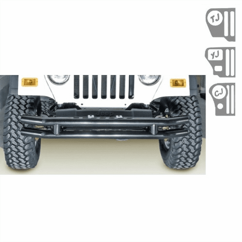 ( 1156002 ) 3-Inch Double Tube Bumper, 76-06 Jeep CJ and Wrangler by Rugged Ridge