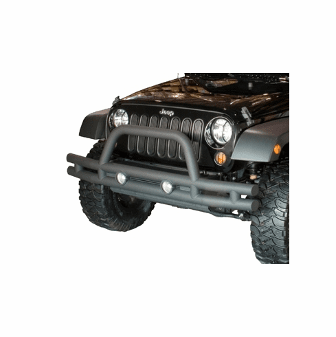 ( 1156110 ) 3-Inch Double Tube Front Bumper, 07-18 Jeep Wrangler by Rugged Ridge