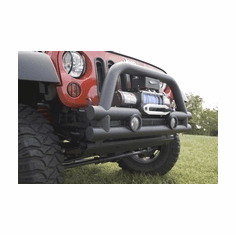 ( 1156112 ) 3-Inch Stubby Tube Front Winch Bumper, 07-18 Jeep Wrangler by Rugged Ridge
