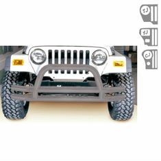 ( 1156201 ) 3-Inch Double Tube Front Bumper, Titanium, 76-06 Jeep CJ and Wrangler by Rugged Ridge
