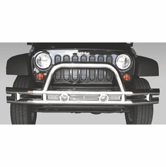 ( 1156310 ) 3-Inch Front Tube Bumper, Stainless Steel, 07-18 Jeep Wrangler by Rugged Ridge