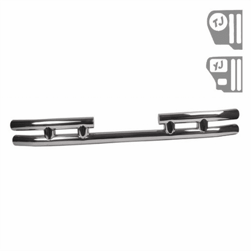 ( 1157303 ) 3-Inch Double Tube Rear Bumper, Stainless Steel, 87-06 Jeep Wrangler by Rugged Ridge