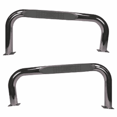 ( 1159302 ) 3-Inch Round Tube Side Steps, Stainless Steel, 76-83 Jeep CJ7 by Rugged Ridge