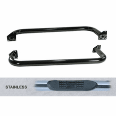 ( 1159303 ) 3-Inch Round Tube Side Step, Stainless Steel, 87-95 Jeep Wrangler by Rugged Ridge