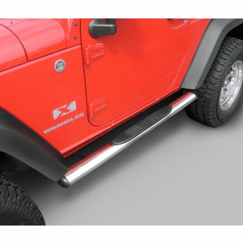 ( 1159307 ) 4 1/4-inch Oval Side Steps, Stainless Steel, 07-18 Jeep Wrangler by Rugged Ridge