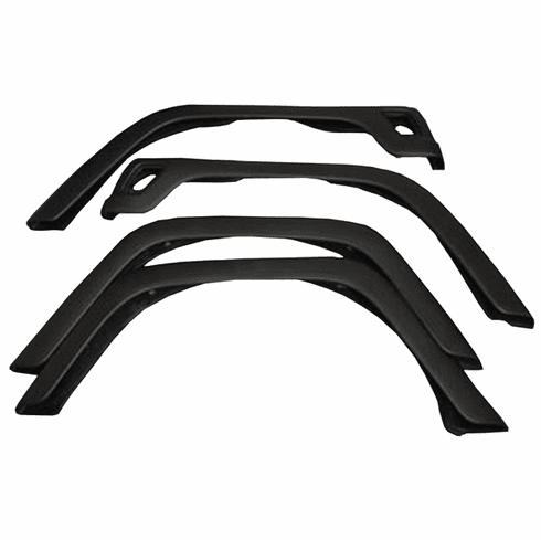 ( 1160302 ) 4-Piece Fender Flare Kit, 97-06 Jeep Wrangler by Rugged Ridge