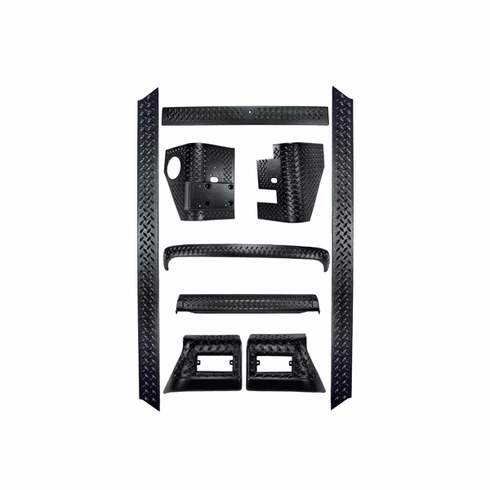 ( 1165050 ) 9-Piece Full Body Armor Kit, 97-06 Jeep Wrangler by Rugged Ridge