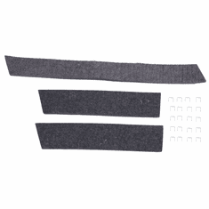 ( 1202186 ) Radiator and Air Deflector Felt Kit, 1941-1964 MB, GPW, CJ2A, CJ3A, M38, CJ3B, Includes 3 Felts,1 Top and 2 Sides