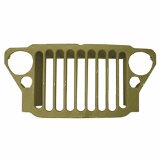 ( 1202199 ) Reproduction Stamped 9 Slot Grille fits 1941-1945 Willys MB and Ford GPW