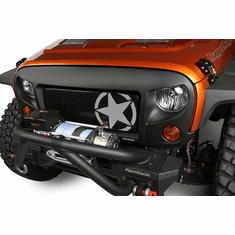 ( 1203421 ) Grille Insert, Military Star, 07-18 Jeep Wrangler JK by Rugged Ridge
