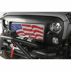 ( 1203422 ) Grille Insert, American Flag, 07-18 Jeep Wrangler JK by Rugged Ridge