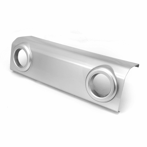 ( 1204008 ) Front Bumper Applique, Silver, 07-18 Jeep Wrangler by Rugged Ridge