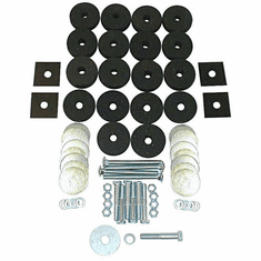 ( 1220101 ) Body Mounting Kit, Includes Washers, Rubber Spacers, and Bolts, 1941-1971 MB, Jeep CJ, M38, M38A1