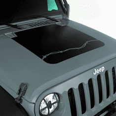( 1230012 ) Barbed Wire Hood Decal for 2007-2018 Jeep Wrangler JK