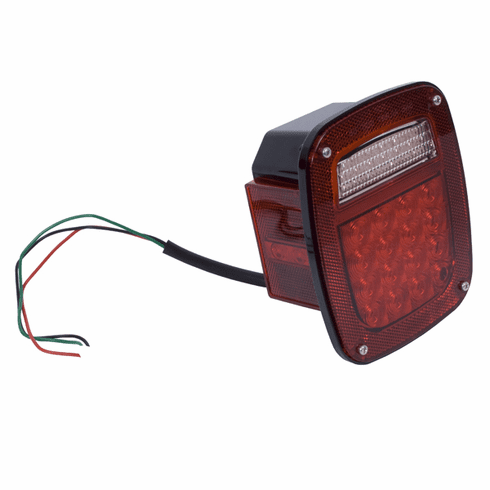 ( 1240383 ) LED Tail Light Assembly, Left Side, 76-06 Jeep CJ and Wrangler by Rugged Ridge