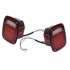 ( 1240385 ) LED Tail Light Set, 76-06 Jeep CJ, Wrangler by Rugged Ridge