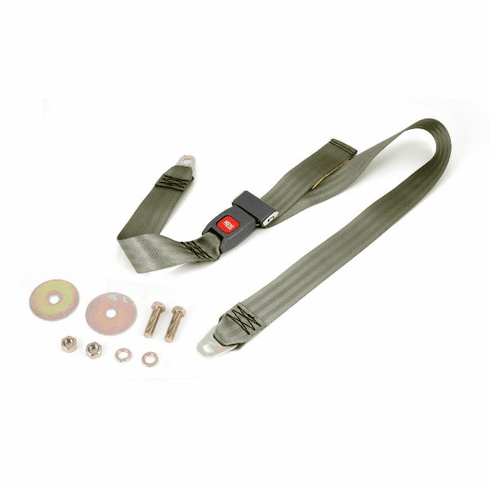 ( 1320240 ) Olive 60 Inch Front or Rear Lap Seat Belt, 1987-95 Jeep Wrangler