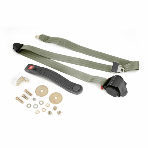 ( 1320242 ) 3-Point Seat Belt, Olive, Retractable, Universal Application