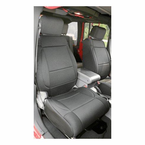 ( 1321401 ) Neoprene Front Seat Covers, Black, 07-10 Jeep Wrangler by Rugged Ridge