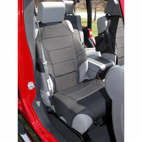 ( 1323530 ) Neoprene Seat Protector Vests, Black, 07-18 Jeep Wrangler by Rugged Ridge