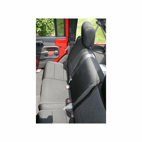 ( 1326401 ) Neoprene Rear Seat Cover, Black, 07-18 Jeep Wrangler Unlimited by Rugged Ridge