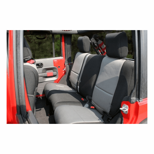 ( 1326409 ) Neoprene Rear Seat Cover, 07-18 Jeep Wrangler Unlimited by Rugged Ridge