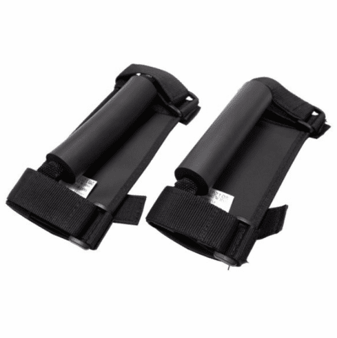 ( 1330502 ) Deluxe Grab Handles, Black, 55-17 Jeep CJ and Wrangler by Rugged Ridge