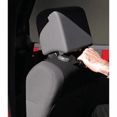 ( 1330511 ) Front Headrest Grab Handles, Red, 07-18 Jeep Wrangler by Rugged Ridge