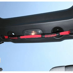 ( 1330513 ) Rear Dual Grab Strap, Red, 07-18 Jeep Wrangler Unlimited by Rugged Ridge