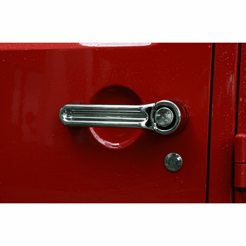 ( 1331111 ) Door Handle Cover Kit, Chrome, 07-18 Jeep Wrangler by Rugged Ridge